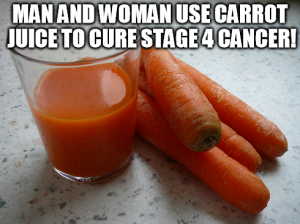 carrot juice cancer